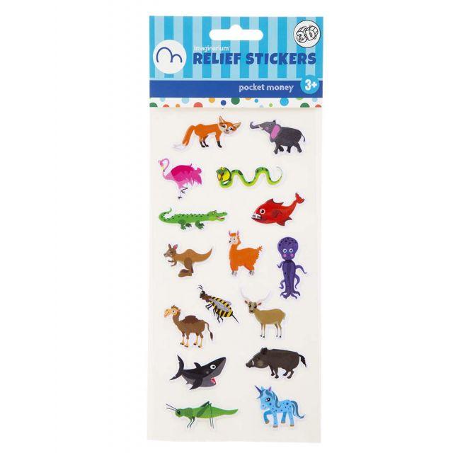RELIEF STICKER ANIMALS