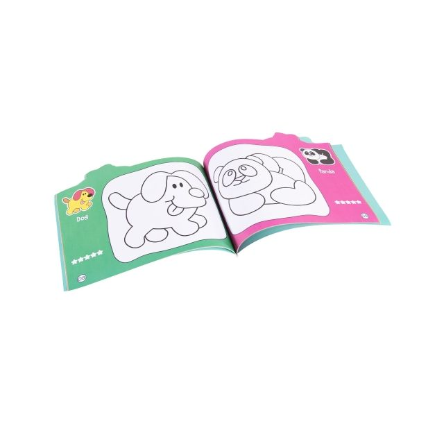 STEP BY STEP COLOURING BOOK
